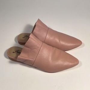 Free People Leather Slides Mules Women Size 37 eu